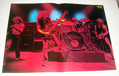 1977 Status Quo Poster 16x23 from Finland Magazine Never Hung