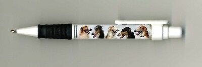 Borzoi / Russian Wolfhound Dog Design Retractable Acrylic Ball Pen by paws2print