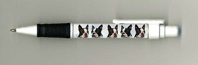 Boston Terrier Dog Design Retractable Acrylic Ball Pen by paws2print