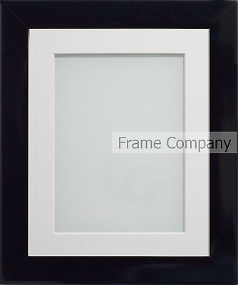 Frame Company Candy Range Black Picture Photo Frames with Choice of Mounts