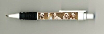 Clumber Spaniel Dog Design Retractable Acrylic Ball Pen by paws2print