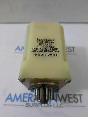 Potter & Brumfield CHB 38-70011 Adjustable Time Delay Release Relay