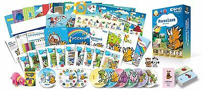 Russian for Kids Premium set, Russian learning DVDs, Books, Posters, Flashcards