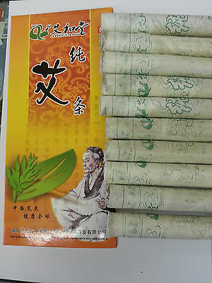 2 boxes Pure Moxa Roll Sticks for Moxibustion 18x200mm 10/box  @UK SELLER@