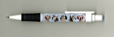 English Setter Dog Design Retractable Acrylic Ball Pen by paws2print