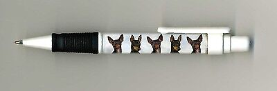 English Toy Terrier Dog Design Retractable Acrylic Ball Pen by paws2print
