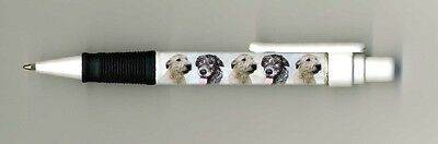 Irish Wolfhound Dog Design Retractable Acrylic Ball Pen by paws2print