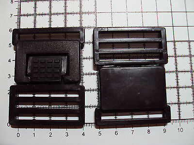 """2pcs. Plastic Side Release Buckles For Webbing 38mm Bags Straps Clips  """"PS-A"""""""