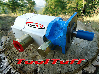 16 GPM Hydraulic Log Splitter Pump, 2 Stage Hi Lo Gear Pump, FOR CANADA