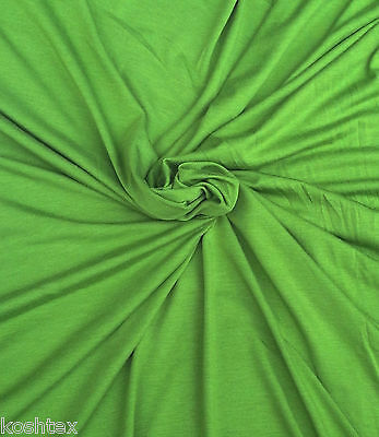 Lime Green Modal Spandex Fabric Jersey Knit by Yard 4 Way Stretch 2/13