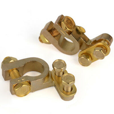 35mm Positive 34mm Negative Gold Plated Universal Car Battery Terminals