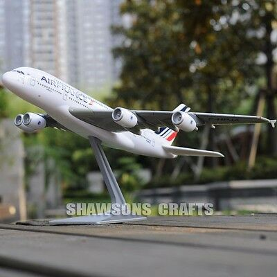 Plane Model Airbus A380 Scale 1/250 Aerobus Airliner Air France Replica