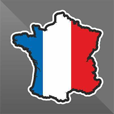 Francia ADESIVO STICKER AUTOCOLLANT DECAL FLAG BANDIERA POSTER VINILE