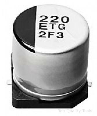 SMD Aluminium Electrolytic Capacitor, Radial Can - SMD, 47 µF, 50 V, 0.75 ohm, T