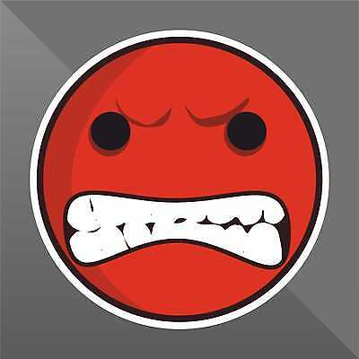 Angry Smile ADESIVO STICKER AUTOCOLLANT PEGATINA DECAL WALL MURAL PVC POSTER