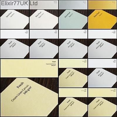 A4 Hammered Linen Matte Craft Card Paper White Ivory Pearl Pearlescent Gsm Sheet