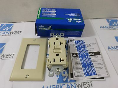 New Surplus Leviton   7899-1 Smartlock Pro GFCI Lighted w/ Wallplate