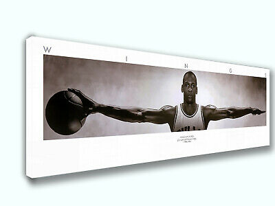 Michael Jordan Wings Panoramic Poster Canvas Print Home Decor Wall Art