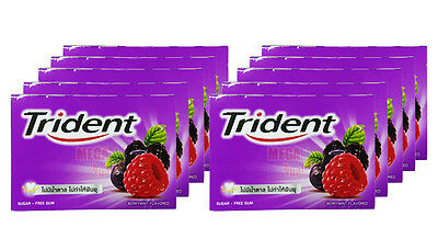 10x Trident Sugar Free Chewing Gum Sweet BERRYMINT FLAVORED 8 Pellets