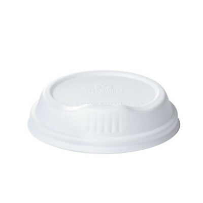 100x Coffee Lid Sipper Lip White For 8oz Coffee Cups Disposable Take Away NEW