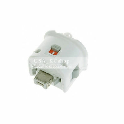 New White External Remote Motion Plus Sensor Controller Adapter for Nintendo Wii