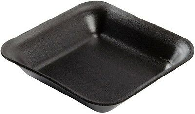 50 x Small Black Foam Polystyrene Meat Fish Veg Packing Tray