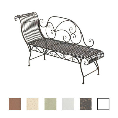 gartenbank partogus sitzbank eisenbank gartenm bel landhausstil metall eisen eur 79 90. Black Bedroom Furniture Sets. Home Design Ideas