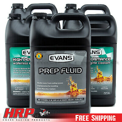 (4) Evans Waterless Coolant- EC53001 & (1) Evans EC42001 PREP w/Funnel