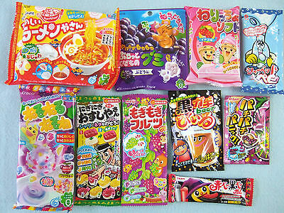 New 10 PCS SET JAPANESE CANDY MAKING KIT Kracie popin cookin Ramen Japan