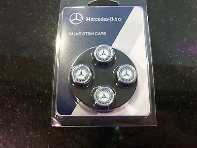 Oem Genuine Mercedes Benz Valve Stem Caps With Mb Star And Laurel Set Of 4