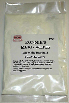 50g Meri-White Egg Substitute, Royal Icing, Meringues. Sugarcraft, Decorating