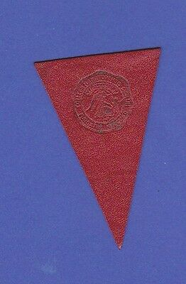 c1910 L51 tobacco leather pennant shaped HAMILTON COLLEGE