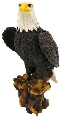 "`American Pride` Bald Eagle Statue Nature Figure Large 17"" Height Wild Life"