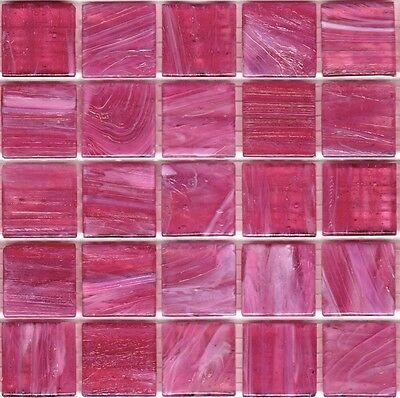 25pcs SM15 Fuschia Bisazza Smalto Italian Glass Mosaic Tiles 2cm x 2cm