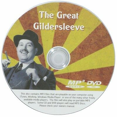 The Great Gildersleeve  - OTR - 498 Episodes. 1 MP3 DVD