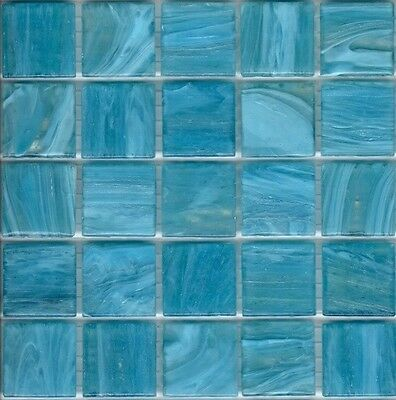 25pcs SM04 Oasis Blue Bisazza Smalto Italian Glass Mosaic Tiles 2cm x 2cm