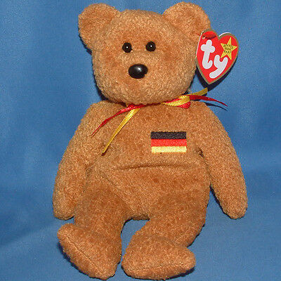 Ty Beanie Baby Germania - MWMT (Bear German Country Exclusive 1990)