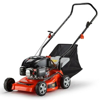 "16"" Baumr-AG 670EX 5HP Lawn Mower - Key-Start Lawnmower- 4-Stroke Push Catch"