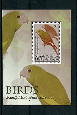 Grenadines Grenada 2007 MNH Beautiful Birds of Caribbean 1v S/S Parakeet Parrots