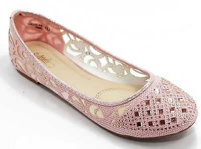 ebb6646e04fdfe Women Shoes Ballet Flat Shoes Lace Rhinestone Flat Loafer Casual Shoes -Pink