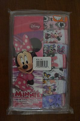 NEW Disney Minnie Mouse Toddler Girls Panties Underwear 7 Pack