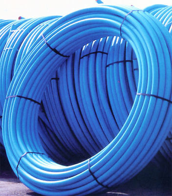 20mm  Blue MDPE Cold Water Mains Pipe in 25m Coil   WRAS Approved  - Free Post!!