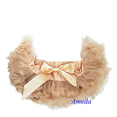 Newborn Baby Girls Elegant Peachpuff Pettiskirt Tutu Photo Prop NB-6M