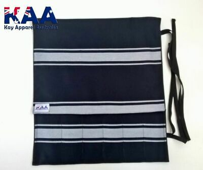 Knife Roll Butchers Chefs Navy/White, Smoking, American BBQ