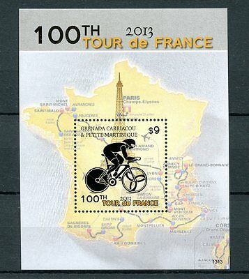 Grenadines Grenada 2013 MNH Tour de France 100th 1v S/S Cycling Sports Paris