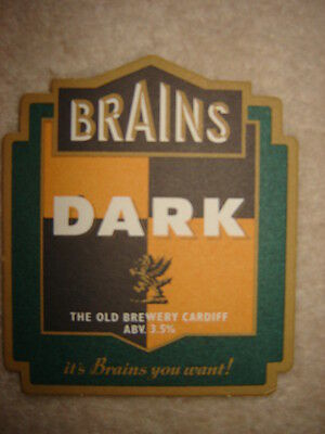 Rare Sous-Bock   BRAINS DARK.