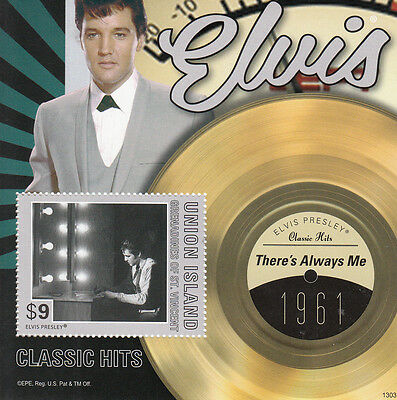 Union Island Grenadines St Vincent 2013 MNH Elvis Presley Classic Hits I 1v S/S