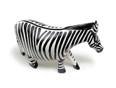 "Black & White Wood Zebra A-WC021- 5""-african carved wood home decoration"
