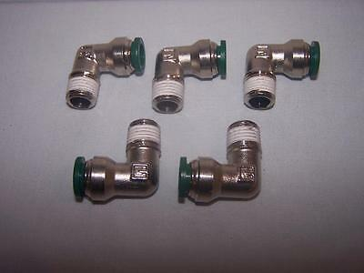 Parker W169Plpns-6-4 Male Elbow 3/8 Tube X 1/4 Nptf Np Brass New Lot Of 5