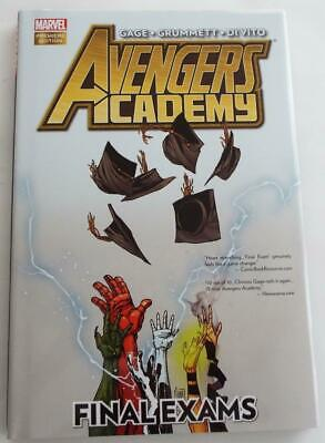 SIGNED CHRISTOS GAGE Marvel Premiere AVENGERS ACADEMY Final Exams 1st  Hardcover
